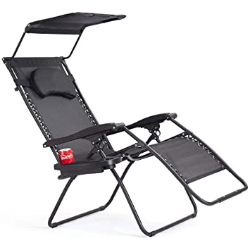 Awe Inspiring Amazon Com Best Folding Recliner Lounge Chair W Shade Forskolin Free Trial Chair Design Images Forskolin Free Trialorg