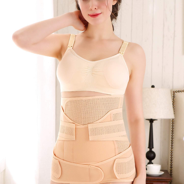 AIBAB Postnatal Abdominal Belt Binding Band Suit Body Shaping Belt Three-Piece Suit