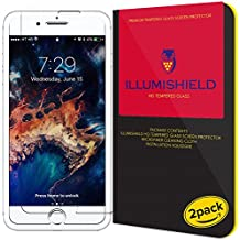 iPhone 7 Plus Screen Protector [Updated] [2-Pack], iLLumiShield HD Clear Tempered Ballistic Glass Screen Protector for iPhone 7 Plus 9H Hardness Anti-Bubble Shield