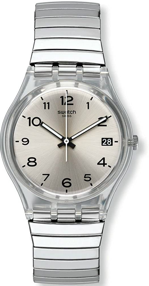 Swatch Reloj Digital de Cuarzo para Mujer con Correa de Acero Inoxidable – GM416A