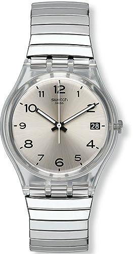 f8351ac13d3 Swatch Women s Digital Quartz Watch with Stainless Steel Bracelet ...