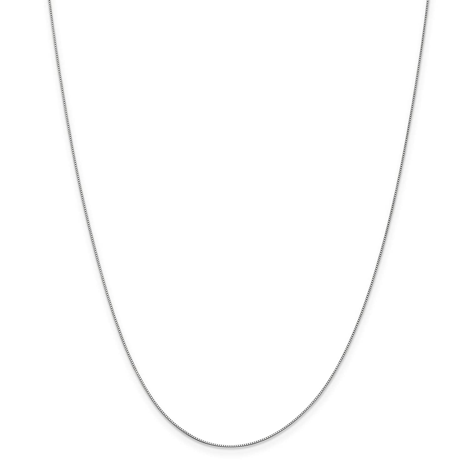 14K .50mm White 20in Gold Baby Box Necklace Chain