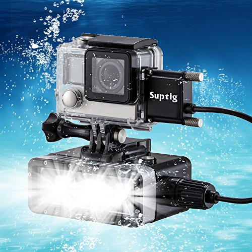 Fill Night Light For Gopro Waterproof LED HERO Dimmable Dual Battery Underwater
