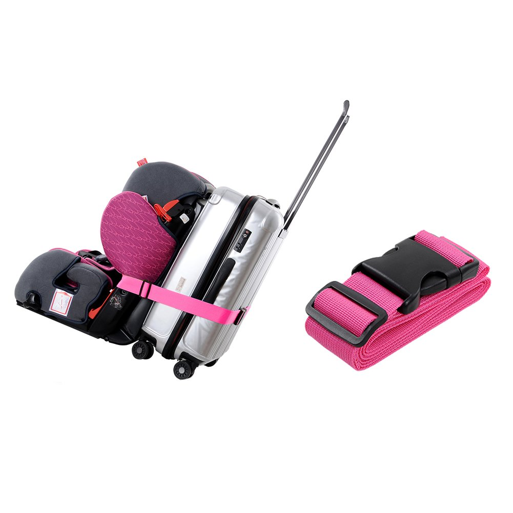 Toddler Car Seat E-Spark Traveling Strap Luggage Suitcase Belt Travel Bag Accessories 1/4 pack (Pink)