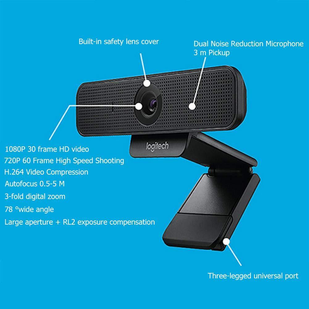 Logitech C925e Full HD Webcam Built-in Mic Autofocus Computer Web Camera