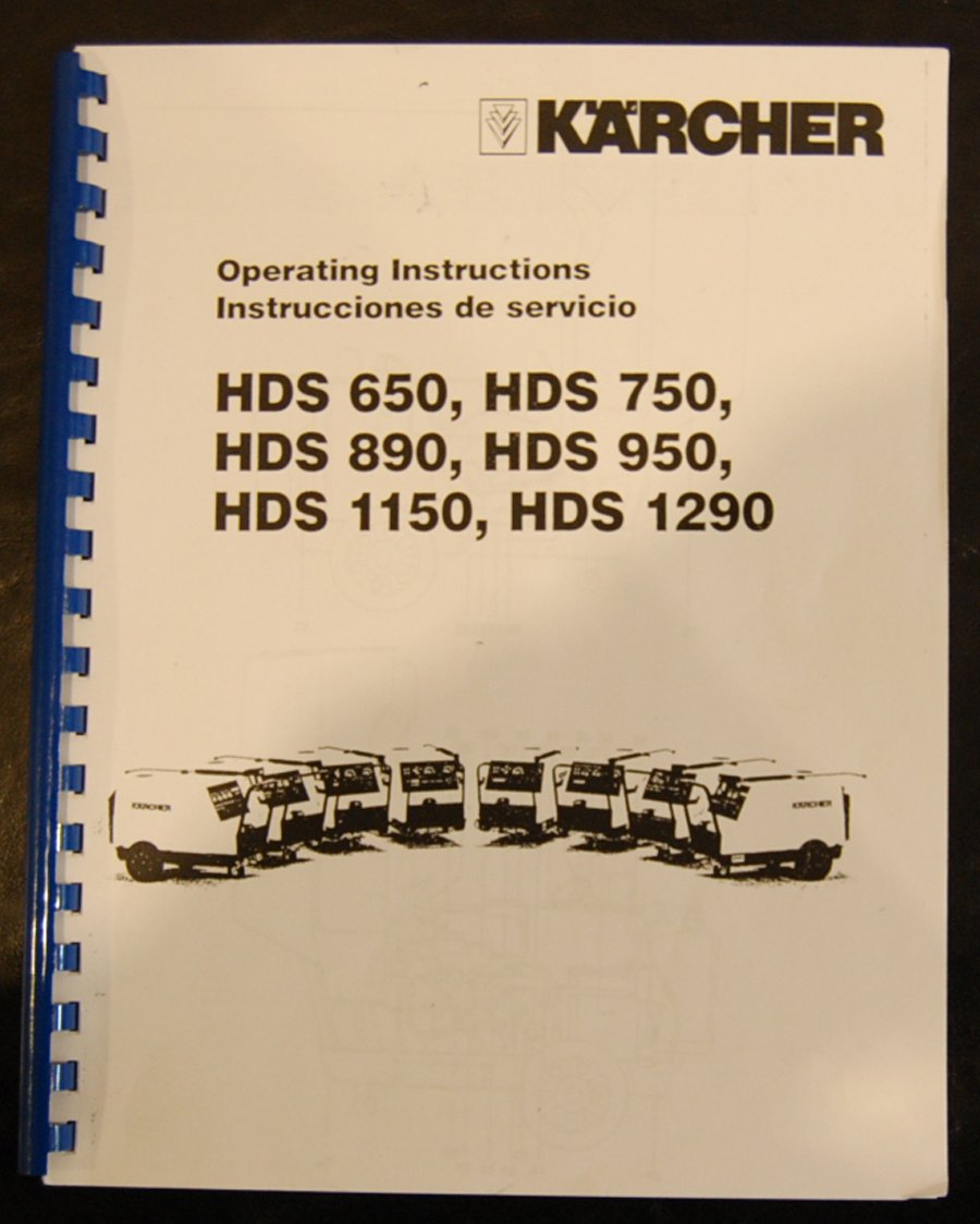 Karcher HDS Series, Pressure Washers, Instruction Operation