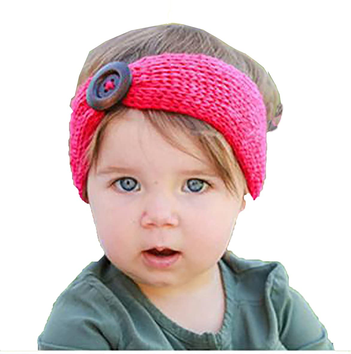 e844d31cc1f62 ZioryPink Baby Girl Baby Boy Unisex Knit Crochet Turban Headband Warm  Headbands for Newborn Hair Head Bowknot Band Hairband Photography Props  ornaments