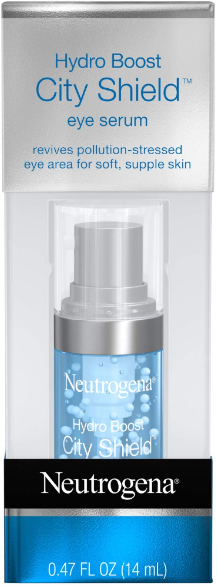Neutrogena Hydro Boost City Shield Hydrating Eye Serum with Hyaluronic Acid, Antioxidants, and Multivitamin Capsules for Pollution Stressed Skin, Oil-Free and Non-Comedogenic.47 fl. oz by Neutrogena
