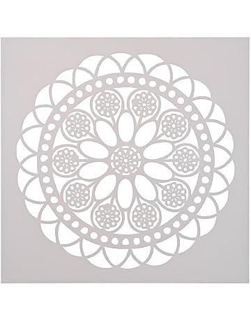 Seawang - Plantilla redonda para tartas de café, diseño de flores