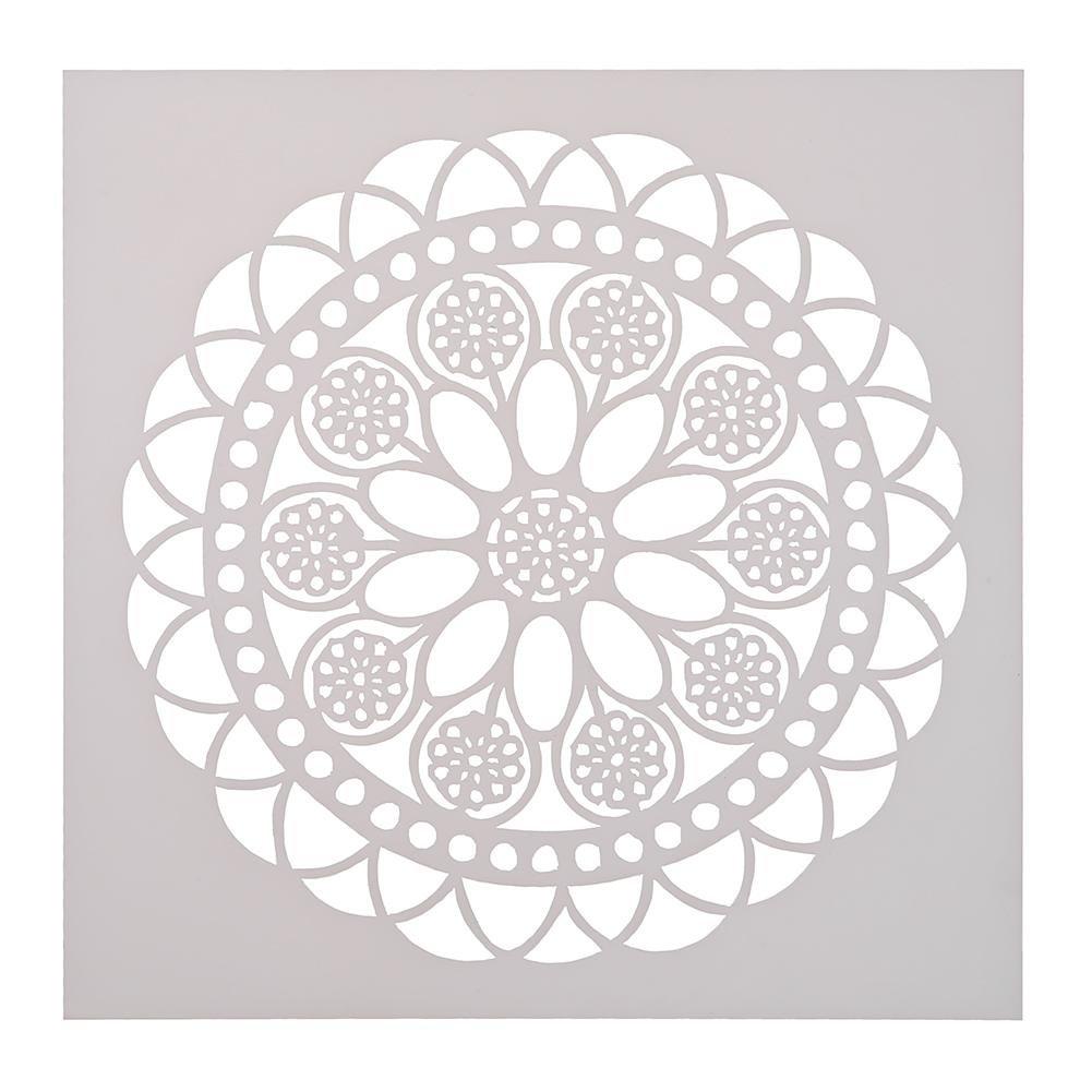 Seawang - Plantilla redonda para tartas de café, diseño de flores: Amazon.es: Hogar