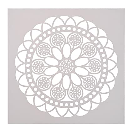 photograph relating to Cake Stencils Free Printable referred to as : Plastic Cake Stencils Spherical Flower Print Espresso