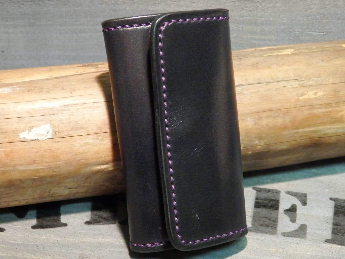 キーケース サドルレザーリザード 手縫い トカゲ革 レザーキーケース ハンドメイド レザークラフト B07S46M659