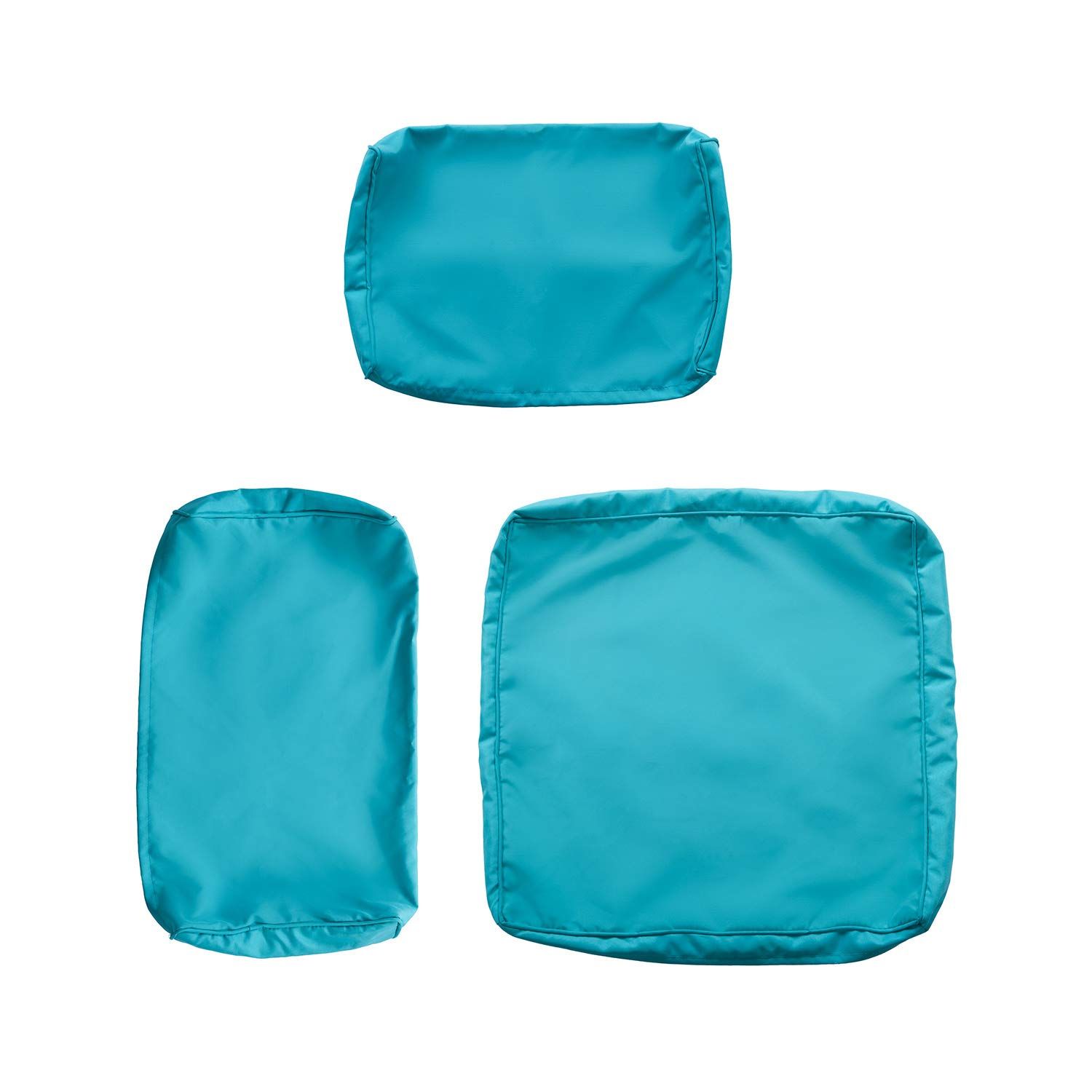 Kinsunny Peach Tree 7 PCs Outdoor Patio Wicker Sofa Chair Washable Cushions Pillow Replacement Covers for Seat and Back, Turquoise