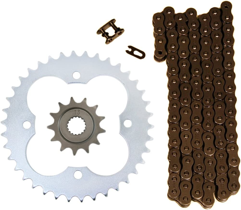 Natural 520x96 O-Ring Drive Chain 13//38 Sprockets compatible with 2006-14 Honda TRX450R TRX450ER Factory Spec