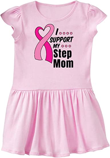 inktastic Breast Cancer Awareness I Support My Mommy with Pink Baby T-Shirt