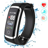 Fitness Tracker HR, Activity Tracker Sports Watch Smart Wristband with Pedometer Heart Rate Monitor Sleep Monitor IP67 Waterproof Call SMS SNS Alert for Men Women Kids Compatible for Android IPhone