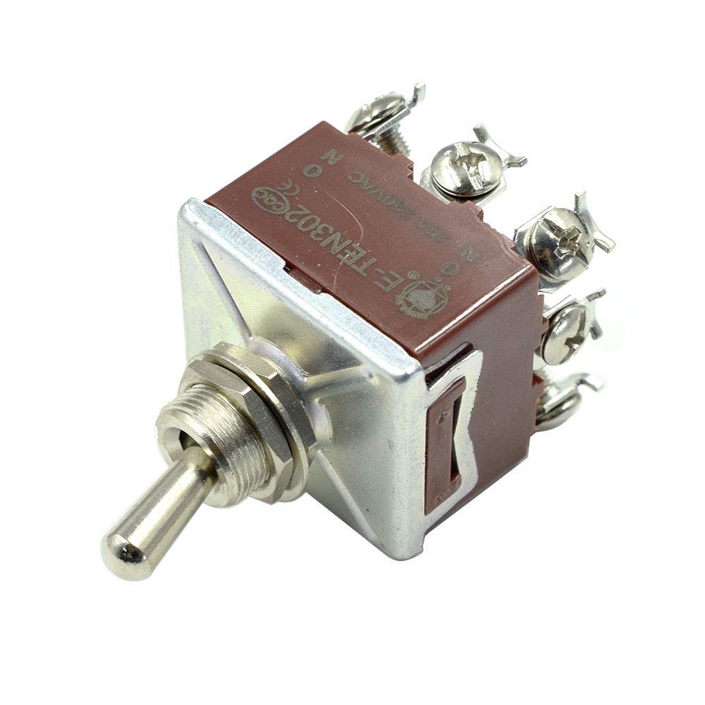 BokWin 25A 250V 9P ON//ON 3PDT Lacthing Rocker Toggle Switch 1Pc