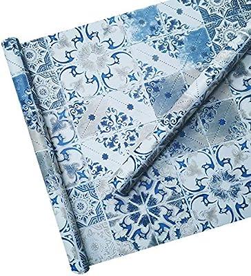 TaoGift azulejo de mármol Azul Autoadhesivo de Vinilo para ...