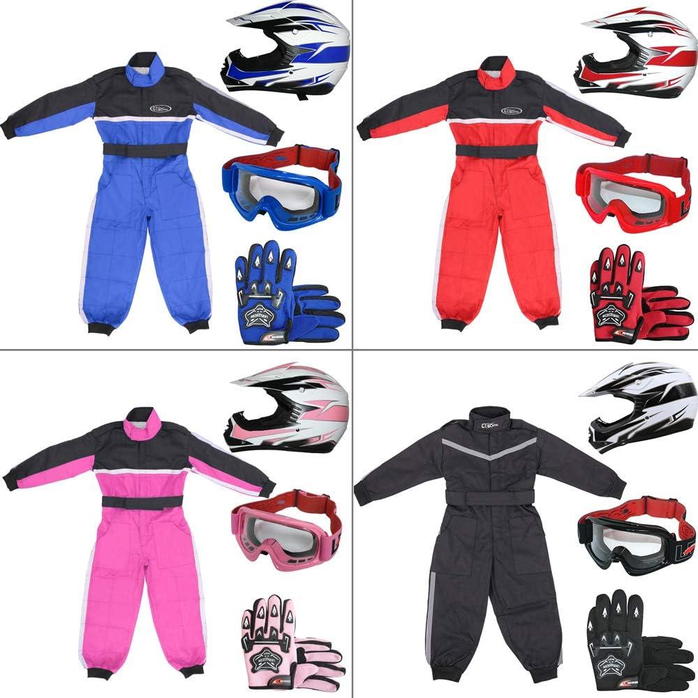 7-8 Years Leopard CUB Kids Motocross CAMO Suit 1PC Children Motorbike Motorcycle Jacket Clothing Karting Suit Green M