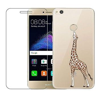 Funda Huawei P8 Lite 2017, Transparente Carcasa para Huawei P8 Lite 2017 Case Silicona TPU Blanda Protectora Bumper Cover