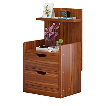 Global-DIY Mesita de noche con paneles de madera y ...