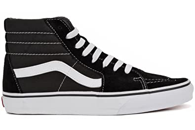 f4ee4c6adc Image Unavailable. Image not available for. Color  Vans Sk8 Hi Black  Black-White