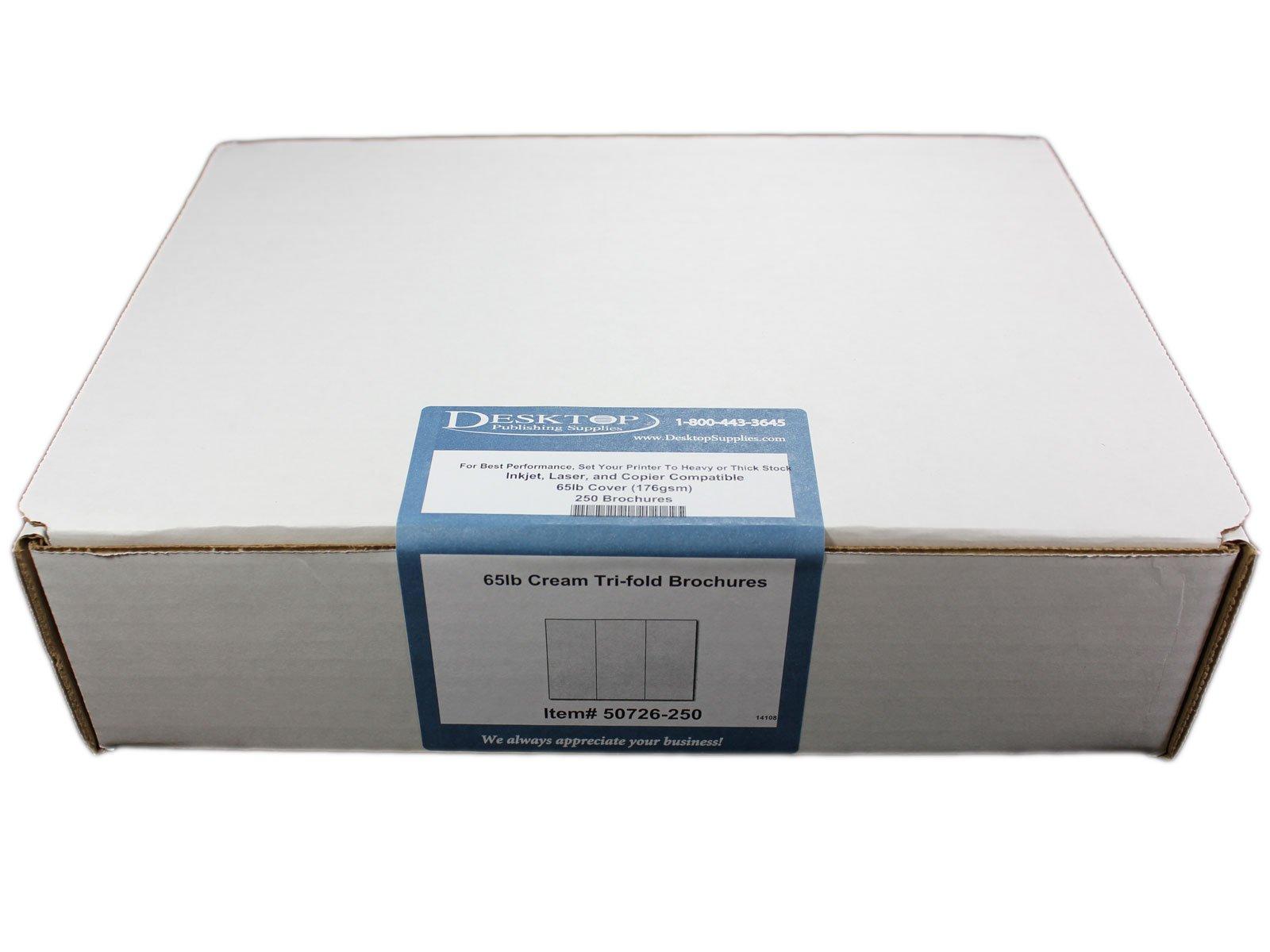 65lb Off White/Cream Tri-fold Brochures - 250 Brochures - Desktop Publishing Supplies, Inc.™ Brand