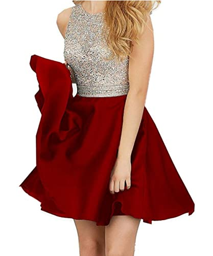 MEILIS 2016 Beading Bodice Open Back Short Homecoming Dress