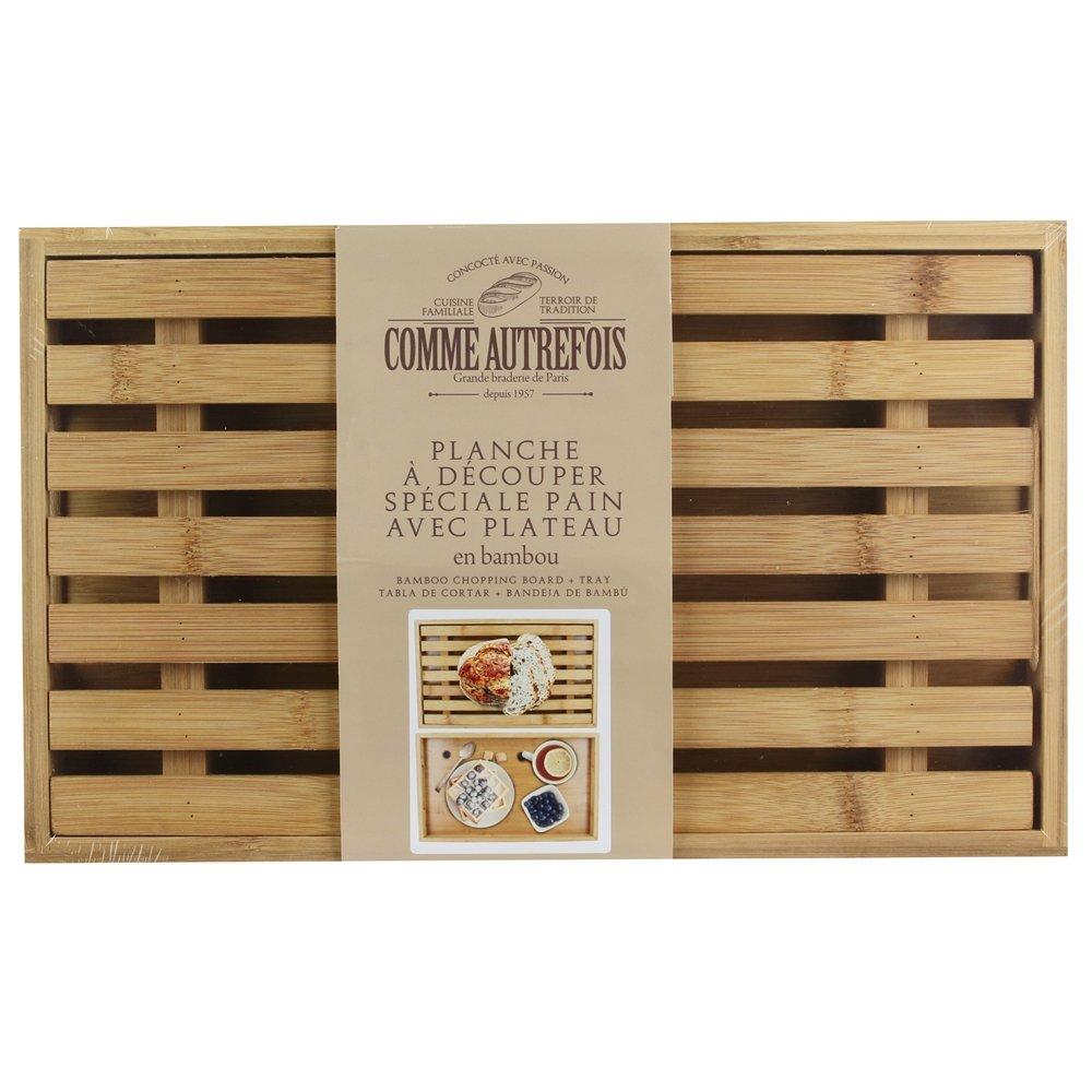 Totally Addict KA2138 tabla de pan con bandeja colectora, bambú , marró n, 38 x 23 x 4 cm bambú marrón 38x 23x 4cm CMP Paris