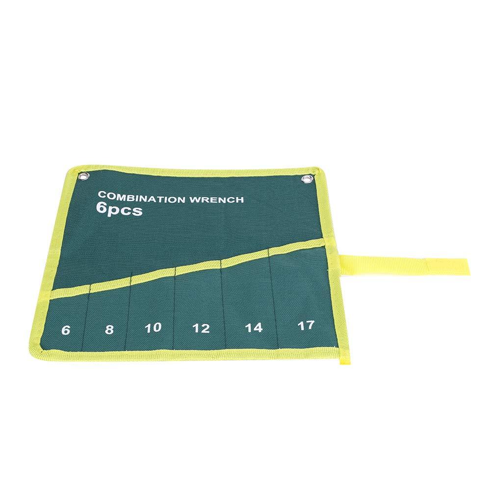 14 Pockets Green Color Set Wrench Pockets Multi-Pocket Canvas Roll Up Tools Storage Bag Spanner Plier Wrench Holder Organizer