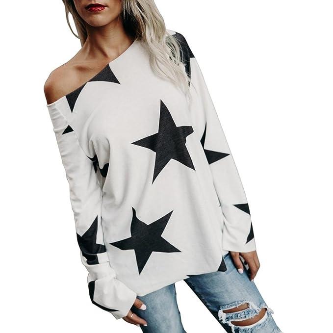 Beauty Top Camisas De Blusas De Tops De Mujer, Camisa De Estrella Sin Tirantes Sudadera