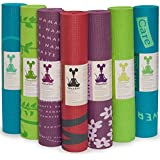 "RatMat PRINTED YOGA MAT: Eco-friendly, nontoxic foam construction. Extra-thick and durable. 24"" x 68"" x 1/4"""