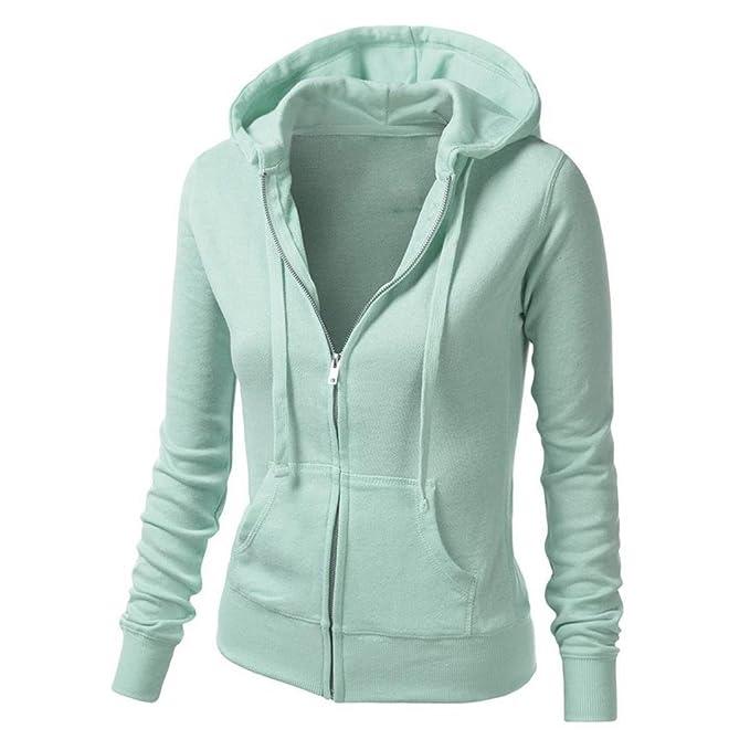 32b3d0d22a5 Womens Hoodie Kinghard Ladies Hoodie Full Zip Sweatshirt Womens Soft Hoodie  Coat Casual Hooded Hoody Jacket