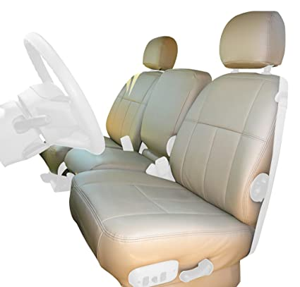 Clazzio 753031tan Tan Leather Front Row Seat Cover for Chevrolet Tahoe//Suburban