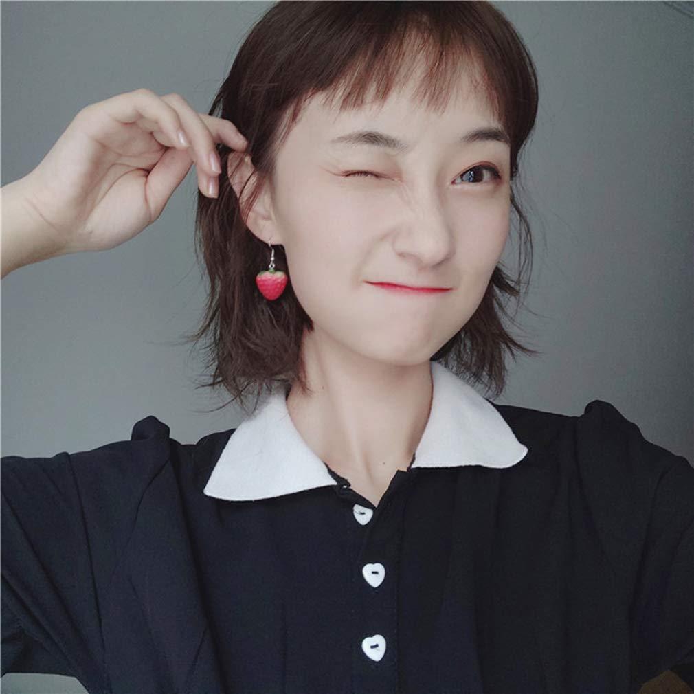 Yunzee Cute Red Resin Strawberry Drop Earrings Fruit Dangle Earring for Girls WomenGifts
