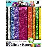 ArtSkills PA-2575 PA2575 Glitter Paper 9'X12' 10/Pkg, Multi-Color