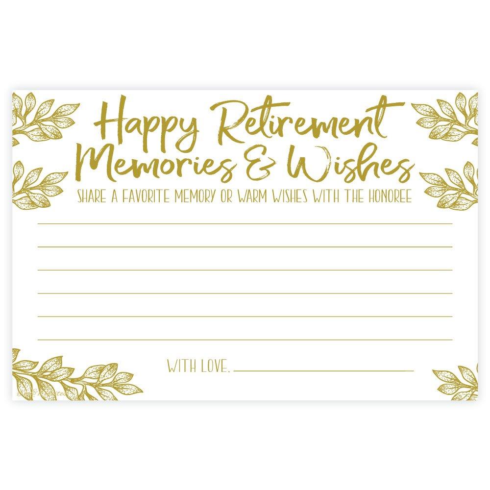 Amazon.com: Recuerdos de jubilación y deseos tarjetas (50 ...