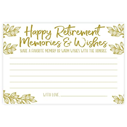 M H Invites Retirement Memories And Wishes Cards 50 Count