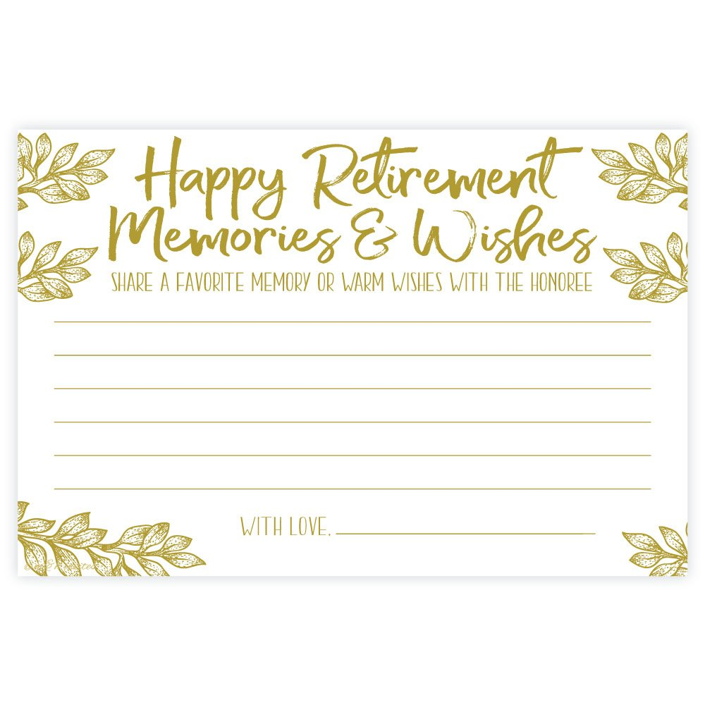 Retirement Memories and Wishes Cards (50 Count)