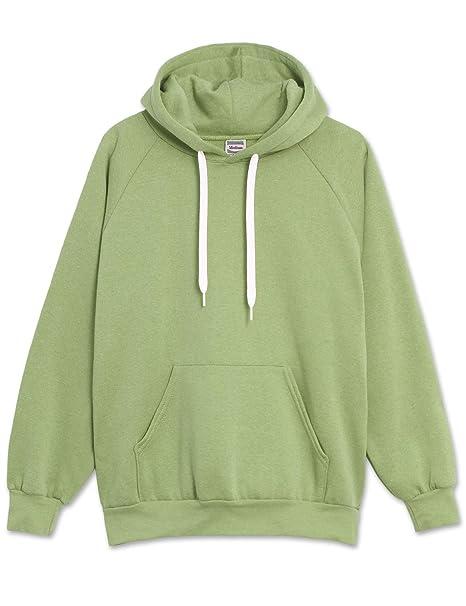 02104055f4a JC DISTRO Mens Hipster Hip Hop Basic Triblend Pullover Hoodie Melange Green  Jacket Small