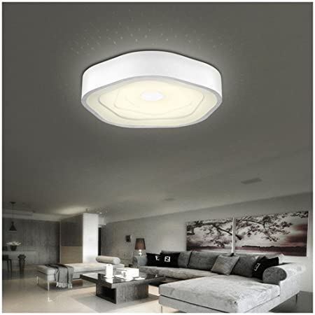 Homelava modern 48w led dimmable acrylic white round flush mount light ceiling lights living room bedroom