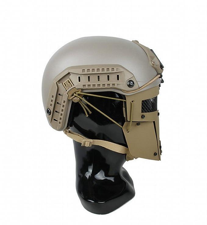GZZ Máscara Táctica Espartana Máscara de Casco AF Máscara Protectora Táctica Exterior,Segundo,Un Tamaño: Amazon.es: Deportes y aire libre