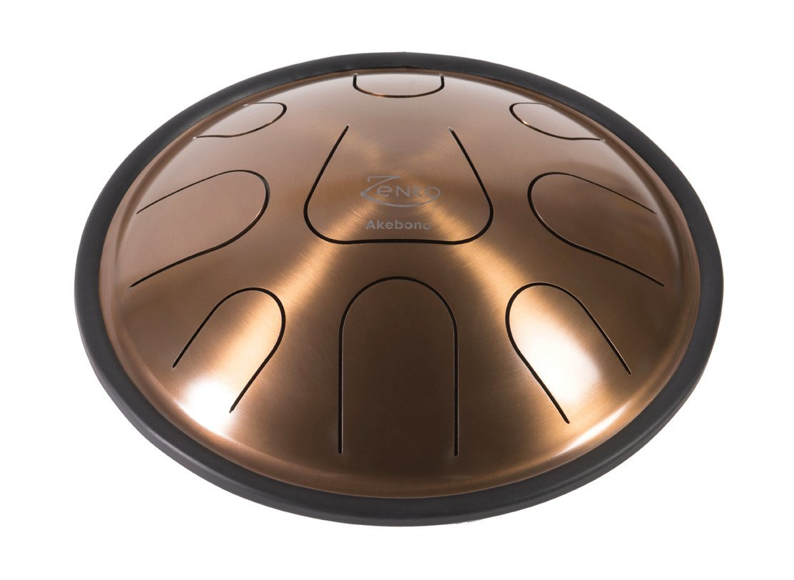 ZENKO AKEBONO - Steel Tongue Drum - 9 tones - Intuitive musical instrument - Deluxe gig bag, support and mallets included