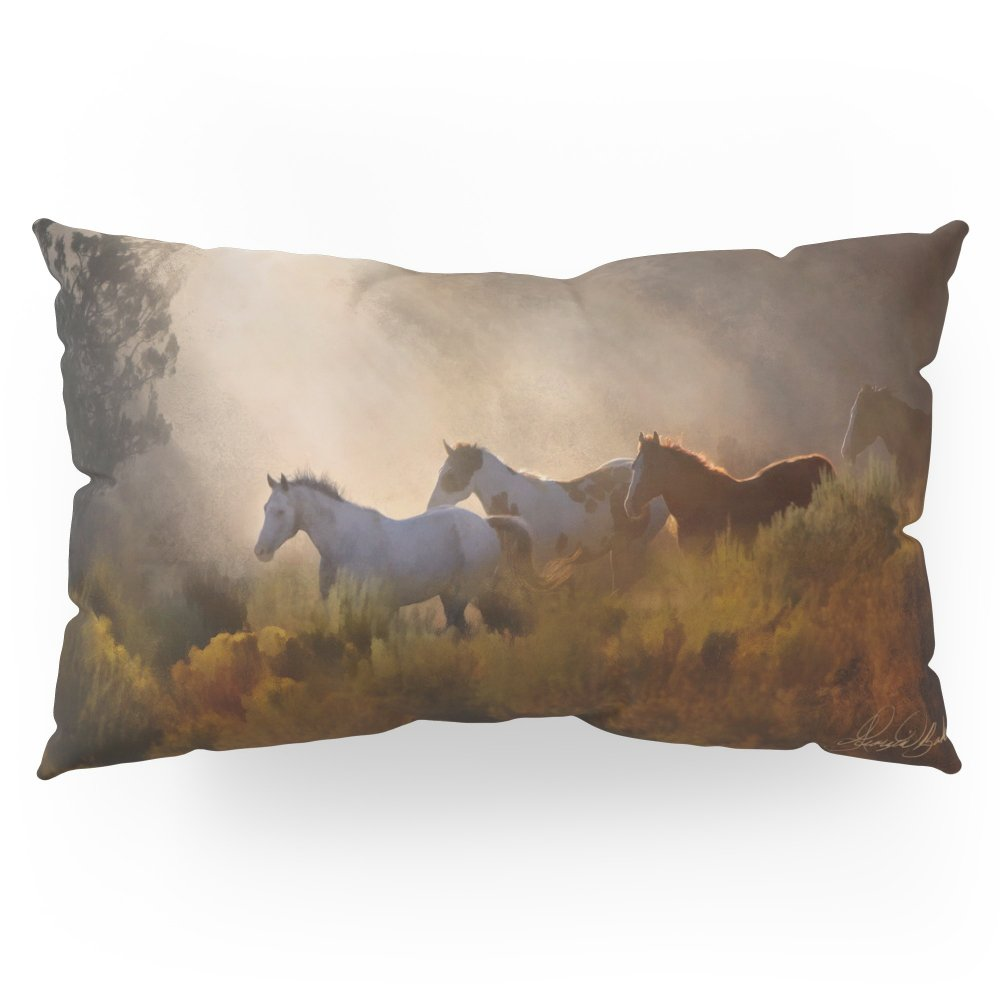 Society6 Horses In A Golden Meadow By Georgia M Baker Pillow Sham King (20'' x 36'') Set of 2