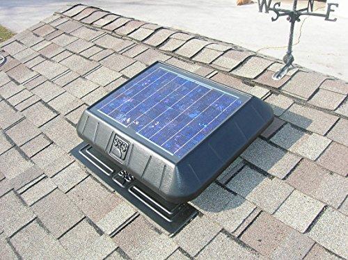 Solar Attic Fan FB 1050 FT - 15 Watt SunRise Solar Fan with Thermostat