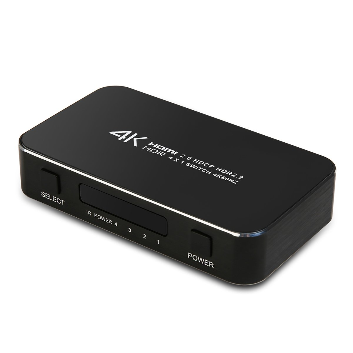 HDMI Switcher 4 Puerto 1 Salida, NIERBO Switch HDMI 4x1 4K x 2K ...