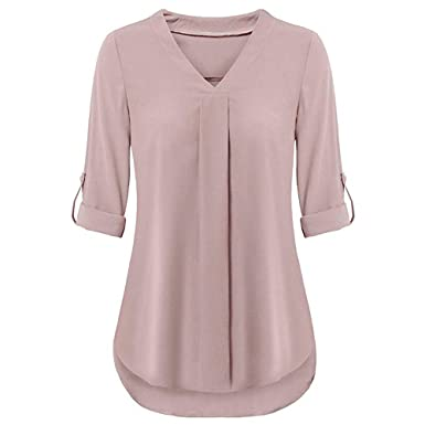 Blouses & Shirts Fashion Women Ladies Chiffon Stripe Bandage V-neck Tees Tops Long Sleeve Shirts Loose Blouses Tops Summer Blouse Female Blusa