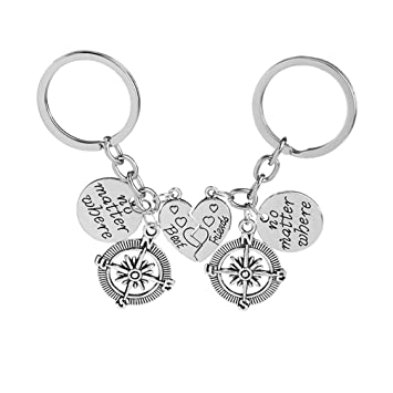 Toporchid BBF Best Friends keychains Friendship Love Gift Keyrings for Women 3ff42abdb0