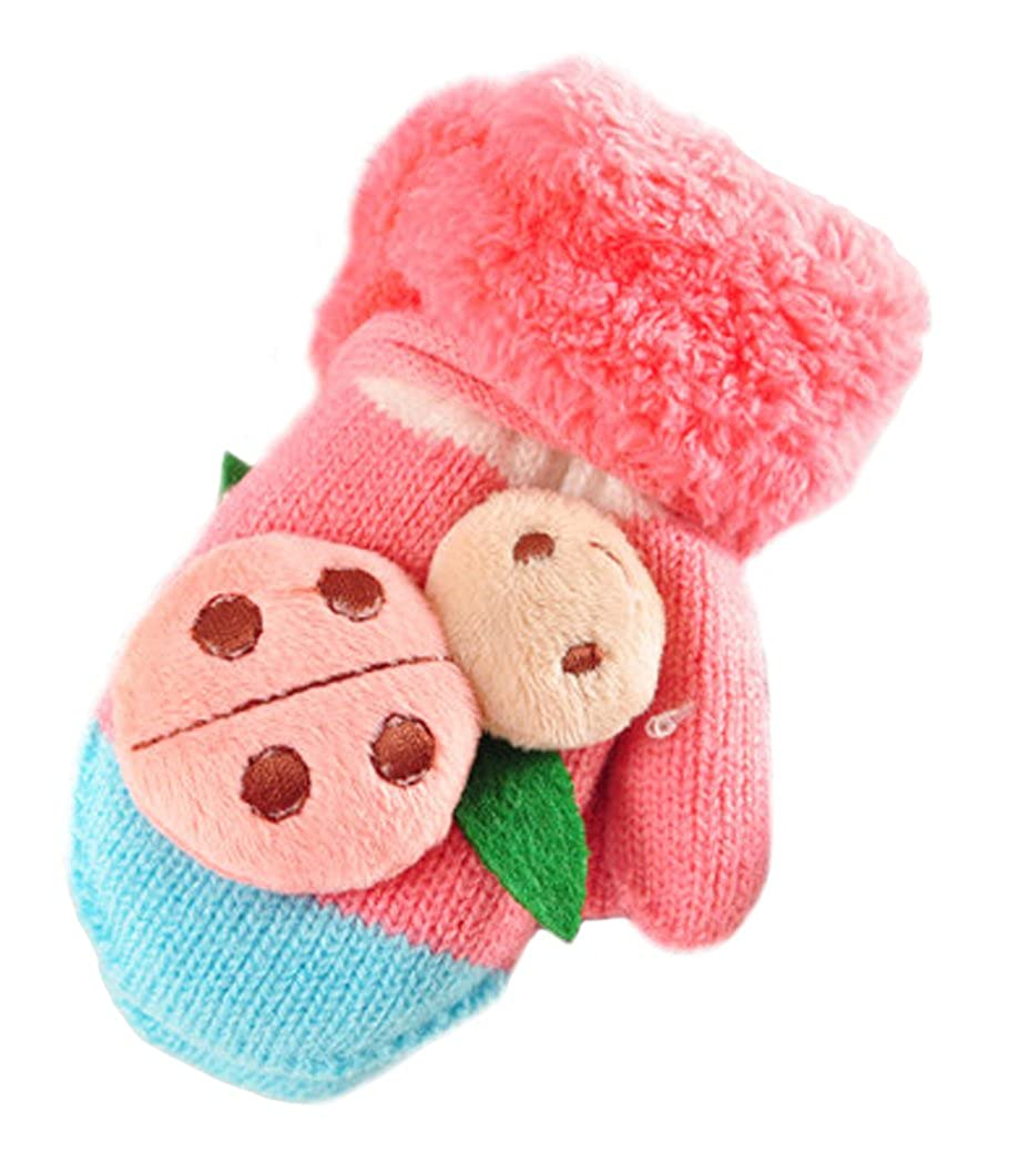 Fascigirl Toddler Mittens Foderati Coccinella Orso Carina in Inverno Guanti Knit Mittens