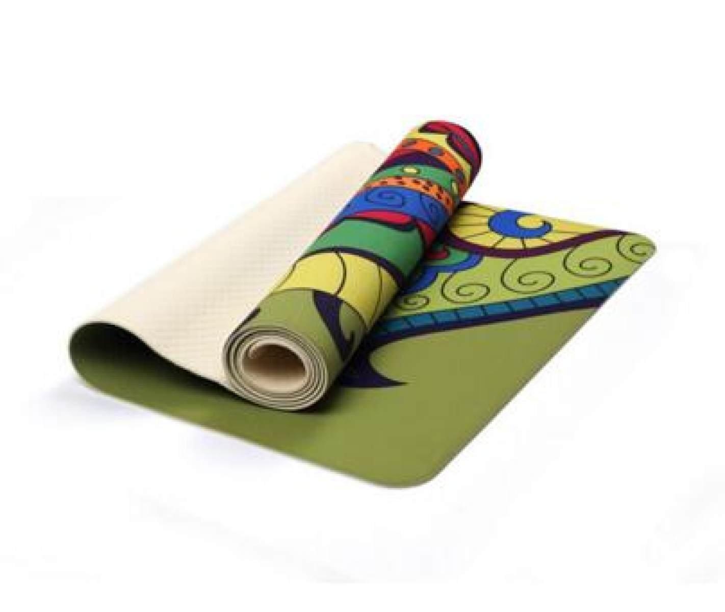 ZHANGHAOBO Yoga Mat Schaum Kniend Pad Fitness Mat Pattern Anti-Rutsch Sport Matte